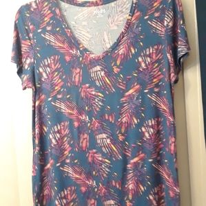 Mudd T-shirt•Navy/Mixed color print Sz XL